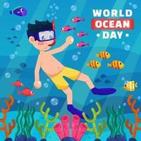 World Ocean Day Concept vector