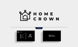 Home King Royal logo Design Vector illustration free business card design