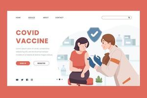 Covid Vaccine Concept for Landing Page vector