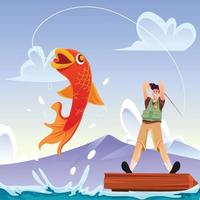 Fishing Activity Concept vector