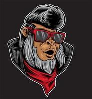 monkey hipster rocker vector
