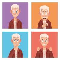 Senior citizen with alzheimers vector