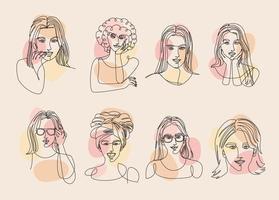 women line drawing vector