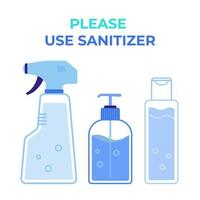 Use sanitizer to stay away from germs and viruses  Protection from Covid 19 virus vector