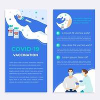 Covid 19 coronavirus vaccine flyer template vector