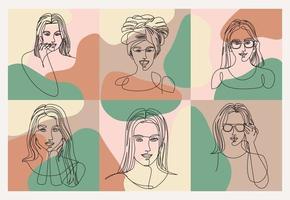 women line drawings vector