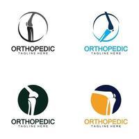 vector de logo de hueso de salud ortopédica