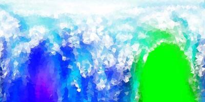 fondo de pantalla de polígono degradado vector verde azul claro