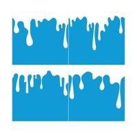 Milk White Liquid Dripping Blue Background vector