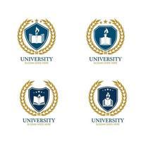 University Academy School and Course logo design template vector