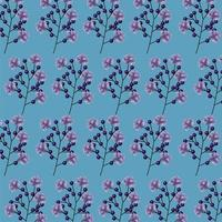branches with flowers pattern background vector