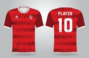 sports jersey template for team uniforms and Soccer t shirt design vector