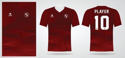 Plantilla de camiseta deportiva para uniformes de equipos y diseño de camisetas de fútbol. vector