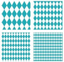 Set of Oktoberfest patterns vector