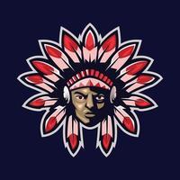 jefe de deportes nativos americanos vector