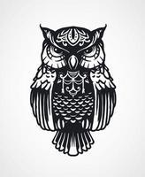 Mandala owl handdrawn vector