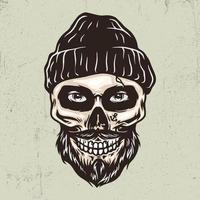 Sailor skull hand drawn illustration vector