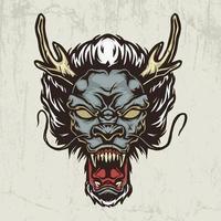 Dragon head hand drawn illustration vector