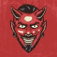 Devil smile hand drawn illustration vector