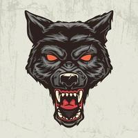 Wolf head hand drawn illustration vector
