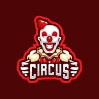 Circus clown logo vector