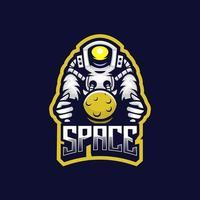 Astronaut space logo vector