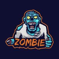 Zombie colorful logo vector