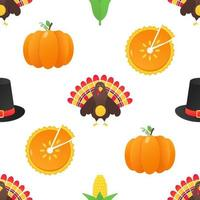Seamless colorful thanksgiving pattern vector