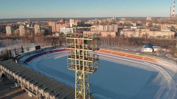 Outdoor stadium in winter video