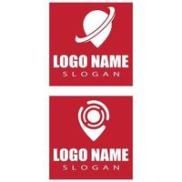 Location point sign and symbol Logo vector template