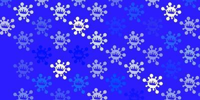 Light blue vector backdrop with virus symbols