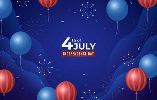 Dark Blue 4th of July Background vector