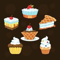 Summer Sweet Food vector