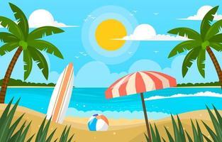 Beach Scenery during Summer vector