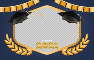 Luxury Graduation Photo Frame vector