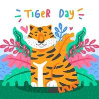 Global Tiger Day Concept vector
