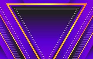 triángulo majestuoso lila vector