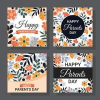 Parents Day Card vector