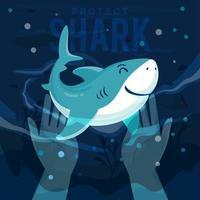 Protect Shark Concept vector