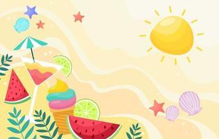 Summer Fruits Background vector