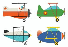 Set Of Various Classic Planes vector
