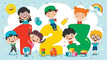 Colorful Cartoon Numbers vector
