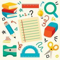School Supplies For Children Education vector