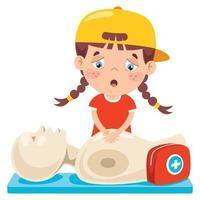 concepto de primeros auxilios para niños vector