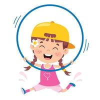 niño feliz haciendo ejercicio de gimnasia vector