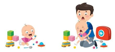 First Aid Concept For Children vector