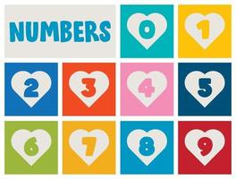 Set Of Numbers For Children Education vector