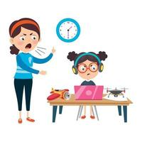 Internet And Technology Addiction vector