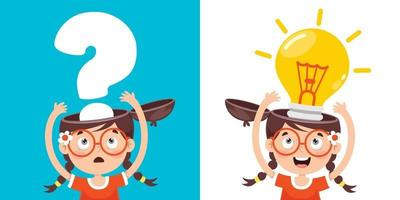 Concept Drawing For Creative Thinking vector