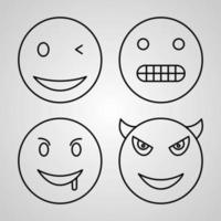 Emojis Icon Collection White Color Background vector